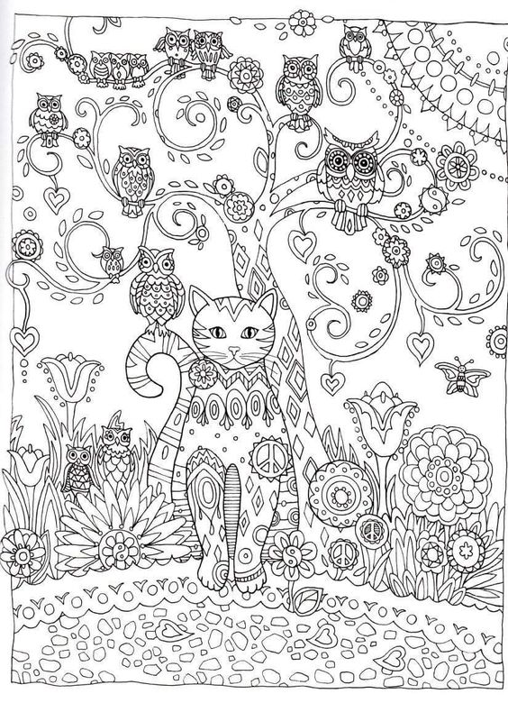 Advanced Cat Coloring Pages : Cat outline coloring and creative on pinterest