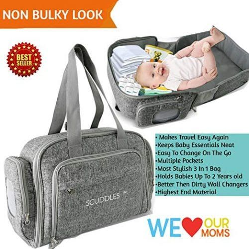 3 In 1 Portable Foldable In 2020 Baby Travel Bed Baby Diaper Bags Portable Baby Changing Station