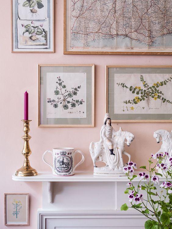furniture pink walls and fireplace mantels on pinterest. Black Bedroom Furniture Sets. Home Design Ideas