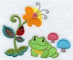 Resultado de imagen para frog embroidery designs