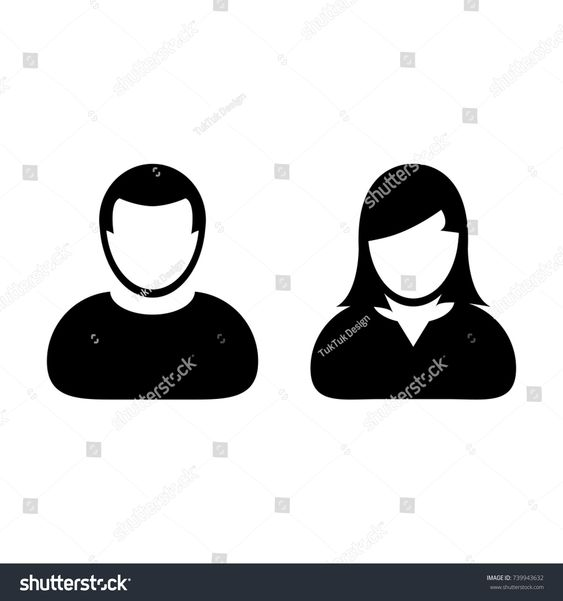 People Icon Vector Male And Female Sign Of User Person Profile Avatar Symbol In Glyph Pictogram Illustrationfemale People Icon Male And Female Signs Pictogram