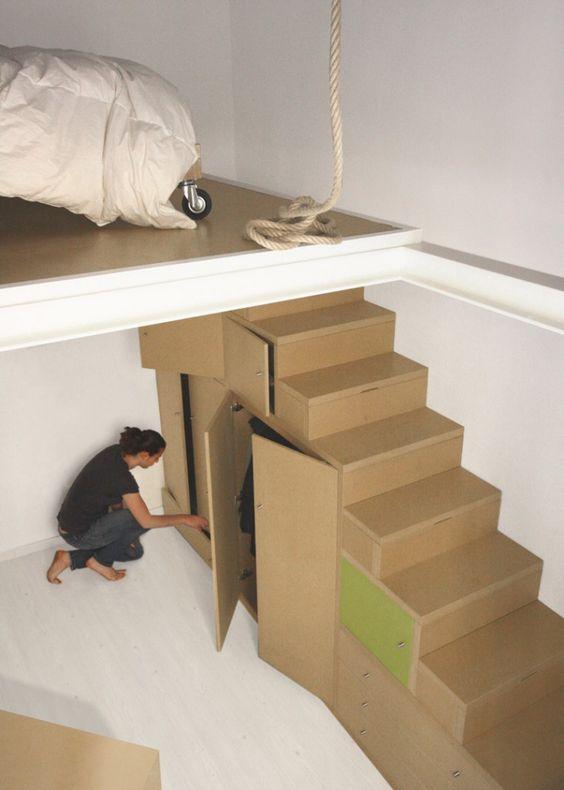 Mezzanine Tres Fonctionnelle Chambre Loft Loft Mezzanine Et
