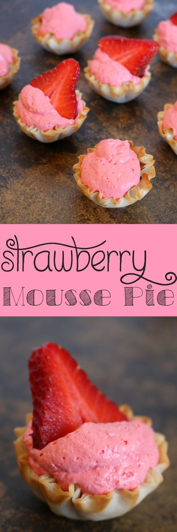 Strawberry Mousse Pie | SensiblySara.com