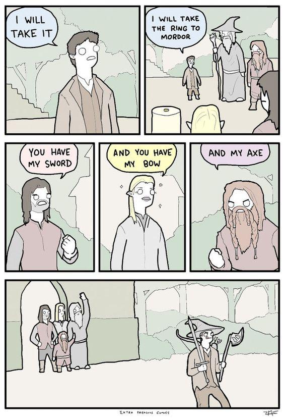 Witzigkeit.. - nervenkeks Herr der Ringe wörtlich genommen.