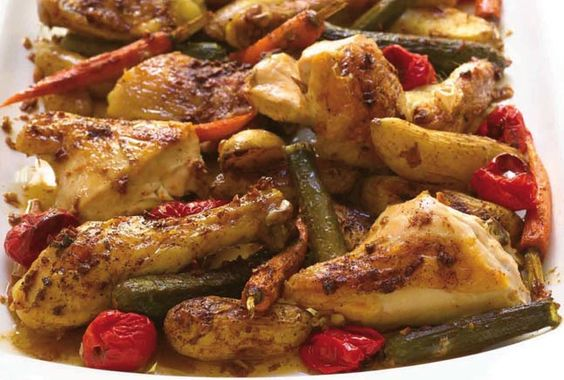 Roasted Garlic Chicken and Baby Vegetables