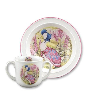 Take a look at this Jemima Puddle Duck Bowl & Mug Set by Reutter Porcelain on #zulily today!