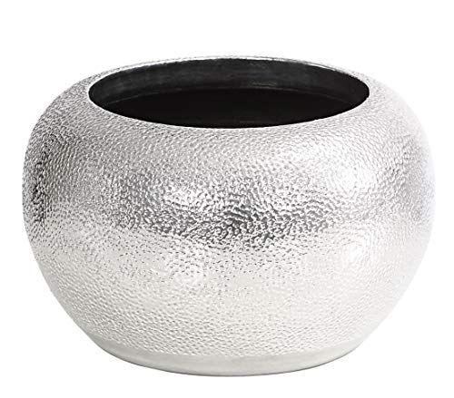 Dehner Ubertopf Rosella O 24 Cm Hohe 16 Cm Keramik Silber