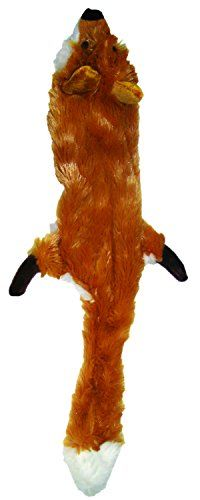 Ethical Pet Plush Skinneeez Fox 14 Inch Stuffingless Dog And Cat
