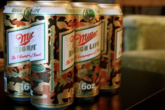 camo beer can