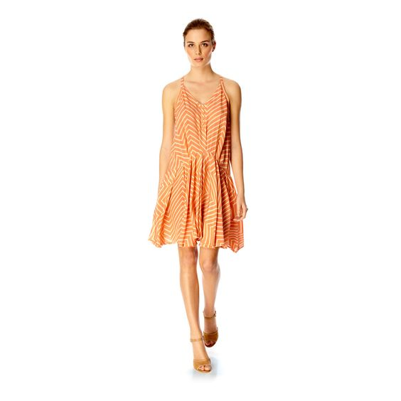 French Connection $179 Silk Halter Dress Orange