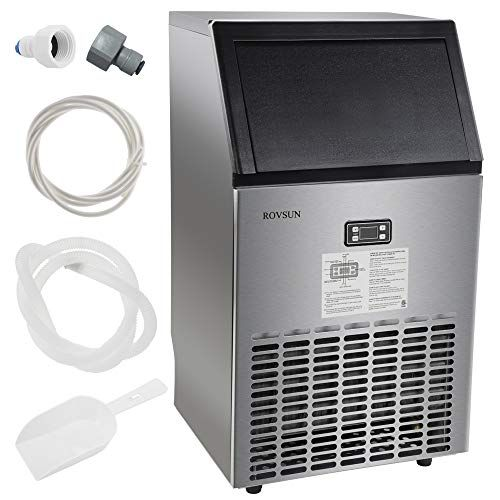 Rovsun Commercial Ice Maker Automatic Built In Stainless Steel