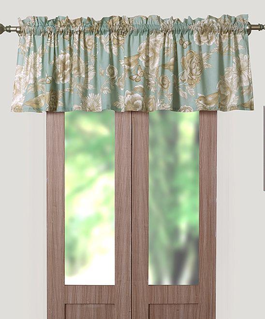 Blue Naomi Curtain Valance | Curtain valances, Curtains and Blue