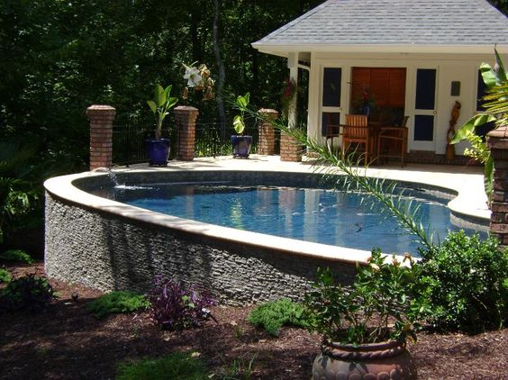 Pools with stone walls residential swimming pool - Residential swimming pool regulations ...