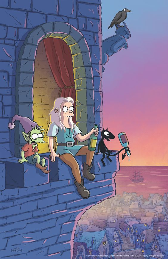 First image from Matt Groening's new animated series DISENCHANTMENT, which debuts on Netflix August 17th. #Netflix #Disenchantment
