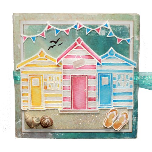 "This Printers Tray was made by Sally Dodger using the new ""Summer Holiday"" stamp set designed by Sharon Bennett for Hobby Art Stamps.:"