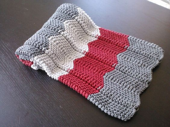 Manta bebe punto chevron, baby blanket chevron stitch