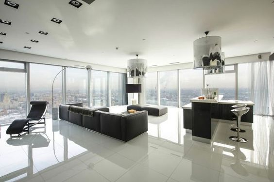 Minimalistic Apartment In Moscow With Breathtaking Panoramic Views