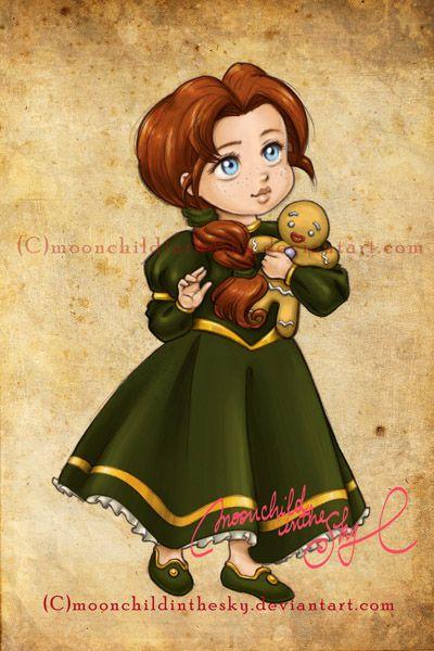 Crianças Disney Princesas Fiona