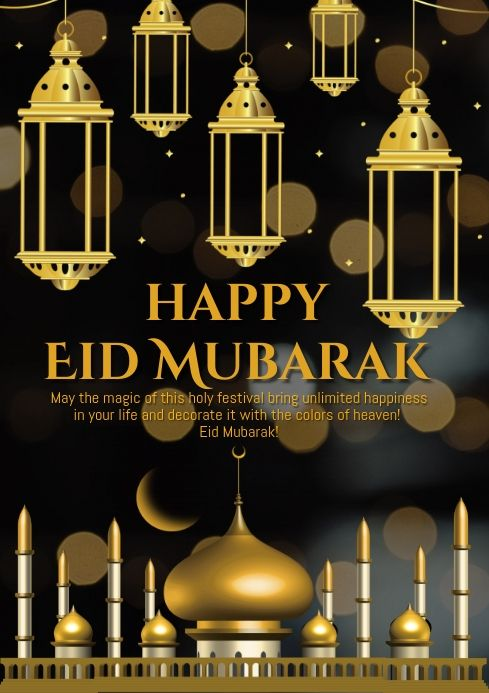 Pin By Postermywall On Eid Poster Templates Eid Greetings Eid Greeting Cards Happy Eid