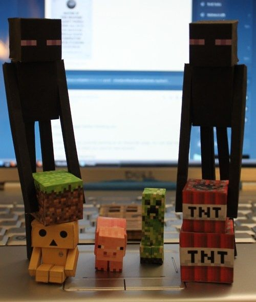 Minecraft Paper Craft. A Really Cute Idea For Making