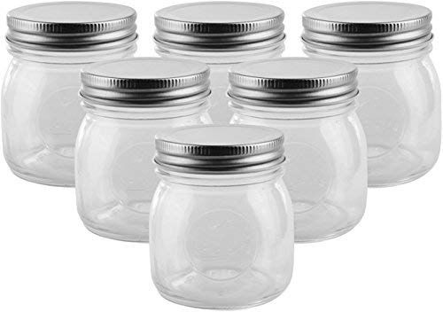Amazon Com Golden Spoon Mason Jars With Regular Lids And Lids For Drinking Dishwasher Safe Bpa Free Set Of Glass Jars With Lids Mason Jars Golden Spoon