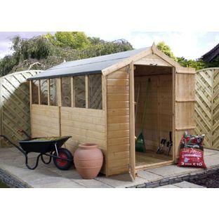 Garden Sheds Homebase mercia - shiplap apex shed - 10x6 from homebase.co.uk | garden