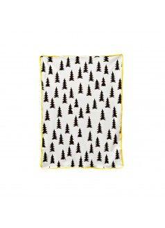 FINE LITTLE DAY Gran Eco Child Blanket / Yellow Trim