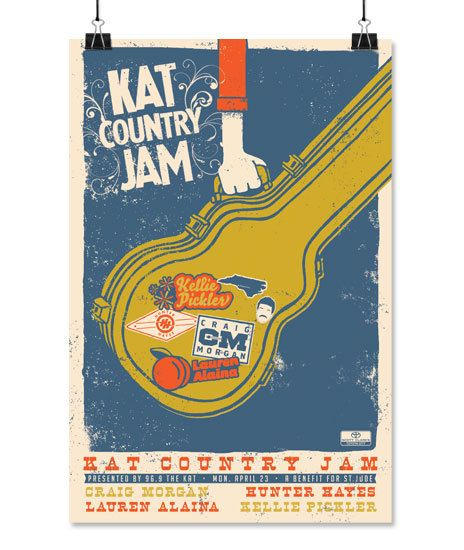 Gig Poster for Kat Country Jam in Charlotte, NC