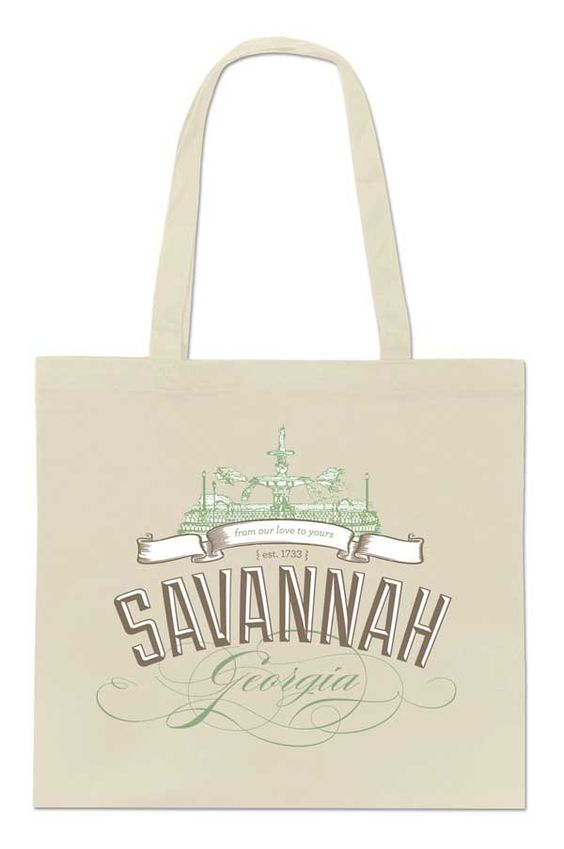 Free downloadable design for a Savannah, Georgia welcome tote
