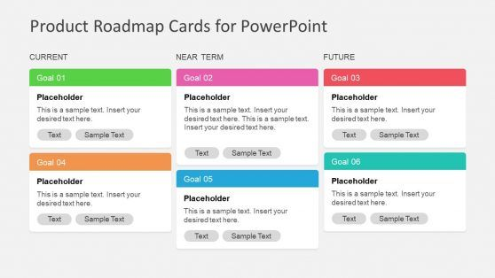 Product Roadmap Cards Powerpoint Template Powerpoint Templates