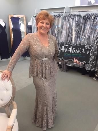 Debbie is the Stepmother of the Bride & she looks fantastic in her Ursula of Switzerland gown! She will be wearing this gown to the outdoor wedding that will be held at Mia Bella Vita in Tomball, Texas. Outdoor Elegance! #Tcarolyn #TCDressedme