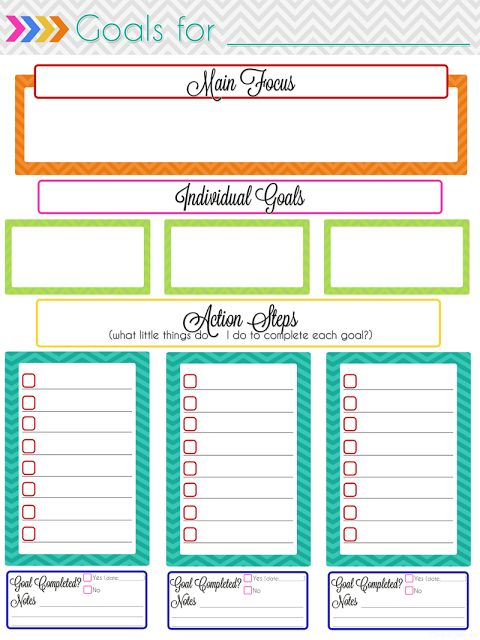 Ultimate Planning Notebook Add-On Monthly Goal Setting Goal - planner page templates
