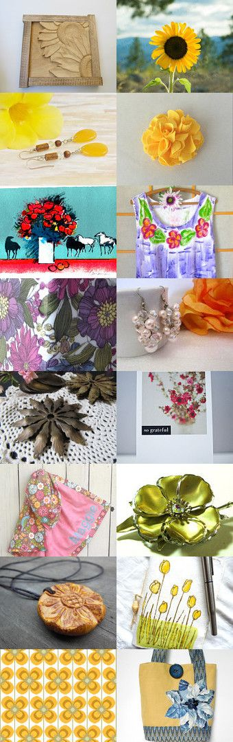 Flowers in Bloom by Rita on Etsy--Pinned+with+TreasuryPin.com