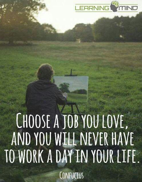 Choose a job you love..