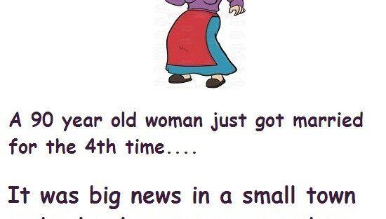 A 90 Years Old Woman Got Married Husband Humor Wife Jokes Sleep Funny