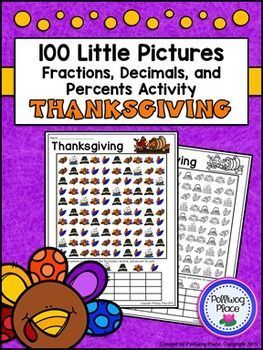 Fractions Decimals and Percents: Thanksgiving Math Activity ($)