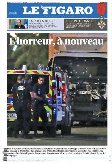 L'attentat de Nice à la une des journaux français et internationaux Check more at http://www.lesinrocks.com/2016/07/15/actualite/lattentat-de-nice-a-journaux-francais-internationaux-11853914/