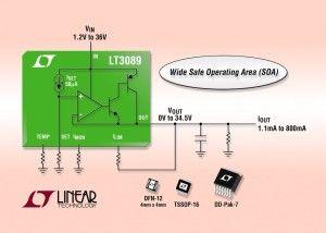 36V 800mA Robust Linear Regulator Has Extended SOA