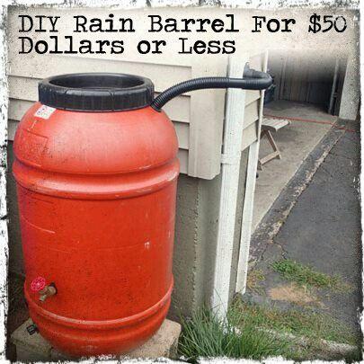 Rain barrel diy pinterest rain barrels rain and barrels for Diy small rain barrel
