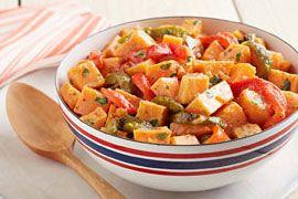 Roasted Pepper Sweet Potato Salad