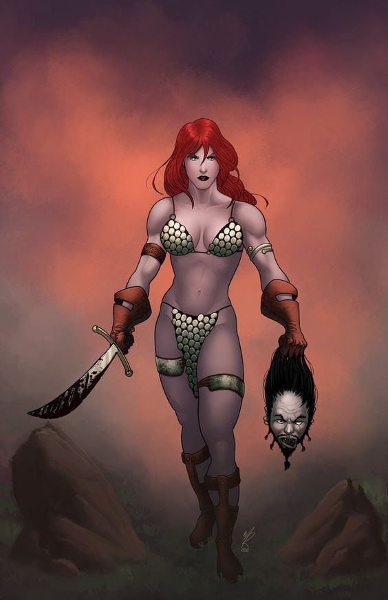Red Sonja colors by MarkHRoberts