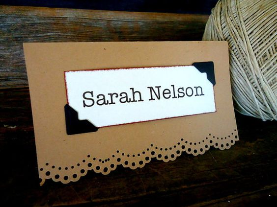 25 Custom Kraft Escort Place Card Seating for vintage, rustic, hipster, vineyard Wedding  by SweetThymes on Etsy, $31.25