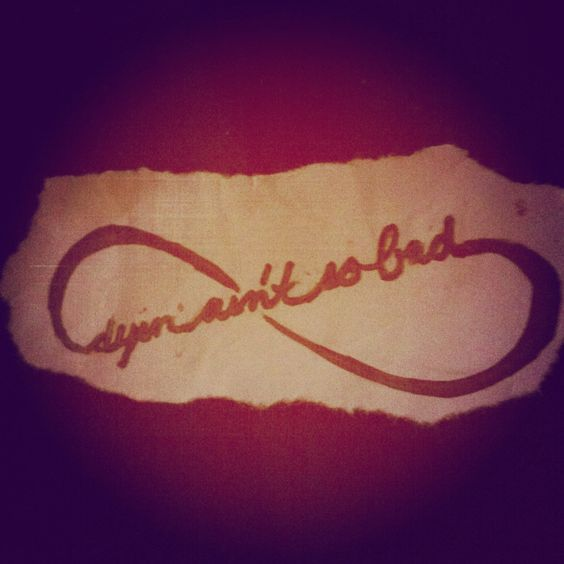 My tattoo design that has a quote from Bonnie and Clyde in it<3