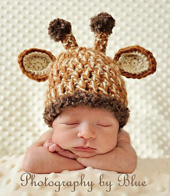Ravelry: Unique Giraffe Baby Hat pattern by Cherry Creek Crochet $4.95: