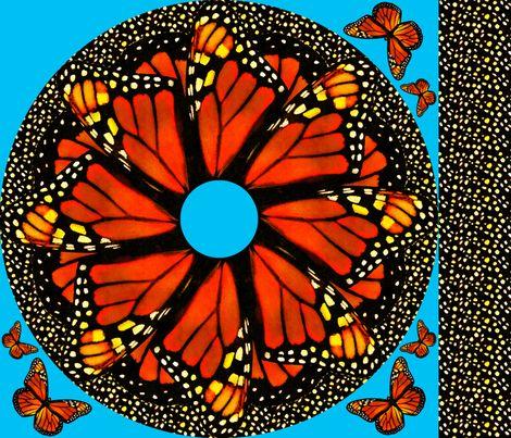 Monarch Twirl Skirt -child size fabric by bjornonsaturday on Spoonflower - custom fabric