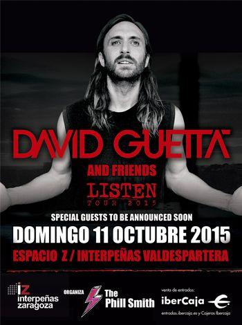 Información entradas y acceso menores concierto #DavidGuetta 11 Octubre Pabellón #Intepeñas #Zaragoza -Espacio Z Valdespartera