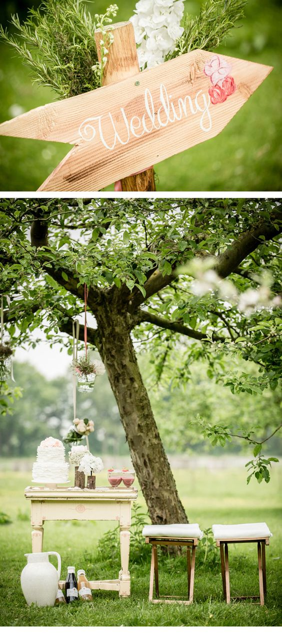 ideas for a romantic backyard wedding  wedding  Pinterest  Romantic