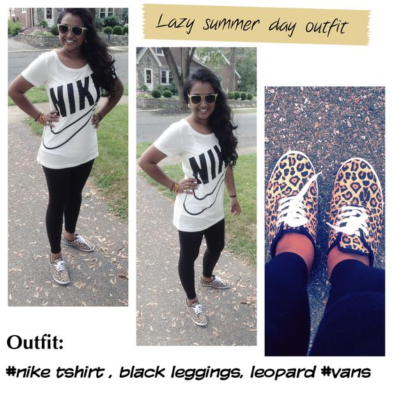 Black Leggings Summer Outfit