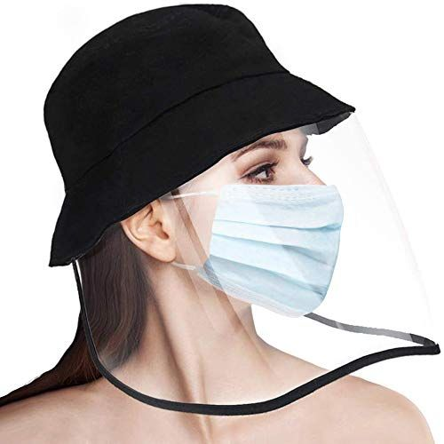 Pisiqi Protective Face Shield Sun Hat Full Face Facial Cover Transparent Cap Safety Face Shield Protective Bucket Hat Yogamozart In 2020 Fisherman S Hat Face Shield Masks Hats