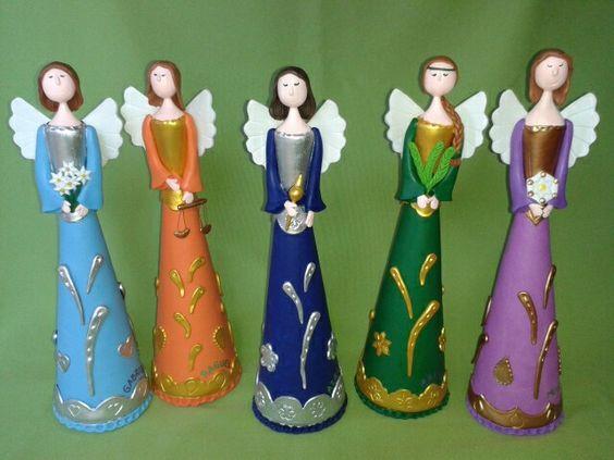 Arcángeles porcelanicron talleraradia@gmail.com